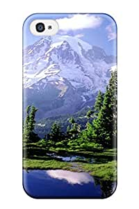 Premium Rainier Park Beautiful Mountain Water Reflection Nature Other Heavy-duty Protection Case For Iphone 4/4s