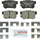 Bosch BC537 QuietCast Premium Ceramic Disc Brake Pad Set For: Acura CL, CSX, ILX, RSX, TL, TSX, Vigor; Honda Accord, Civic, CR-Z, Prelude, S2000; Suzuki Kizashi, SX4, Rear: more info