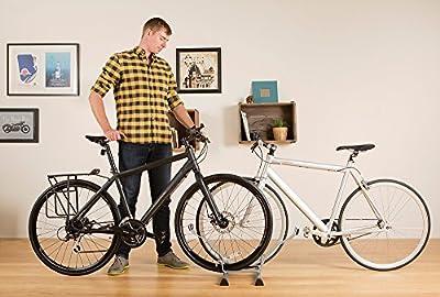 Delta Cycle Seurat Two Bike Instant Park Floor Stand Rack Garage