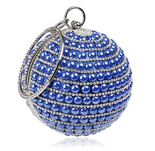 Des Mini Unique Femmes Mode Sac Sphérique Diamant Femmes Pour À Embrayage Blue Sachet Soirée Banquet Main Pzy Chaîne Gamme Haut De Dames W6vgqHFHn