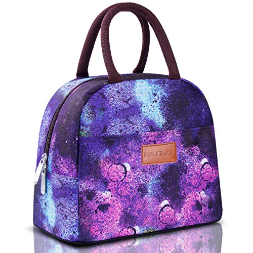 Lunch Purple Box - BALORAY Lunch Bag Tote Bag Lunch Bag for Women Lunch Box Insulated Lunch Container (G-197S Starry)