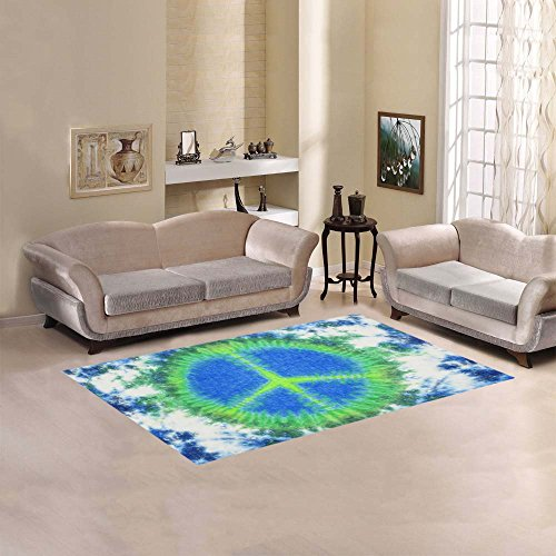 Exceptional InterestPrint Home Decor Blue Tie Dye With Peace Sign