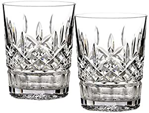 WATERFORD LISMORE Set of 4 Doubled Old Fashioned Glasses 9 OZ ~ New In Box