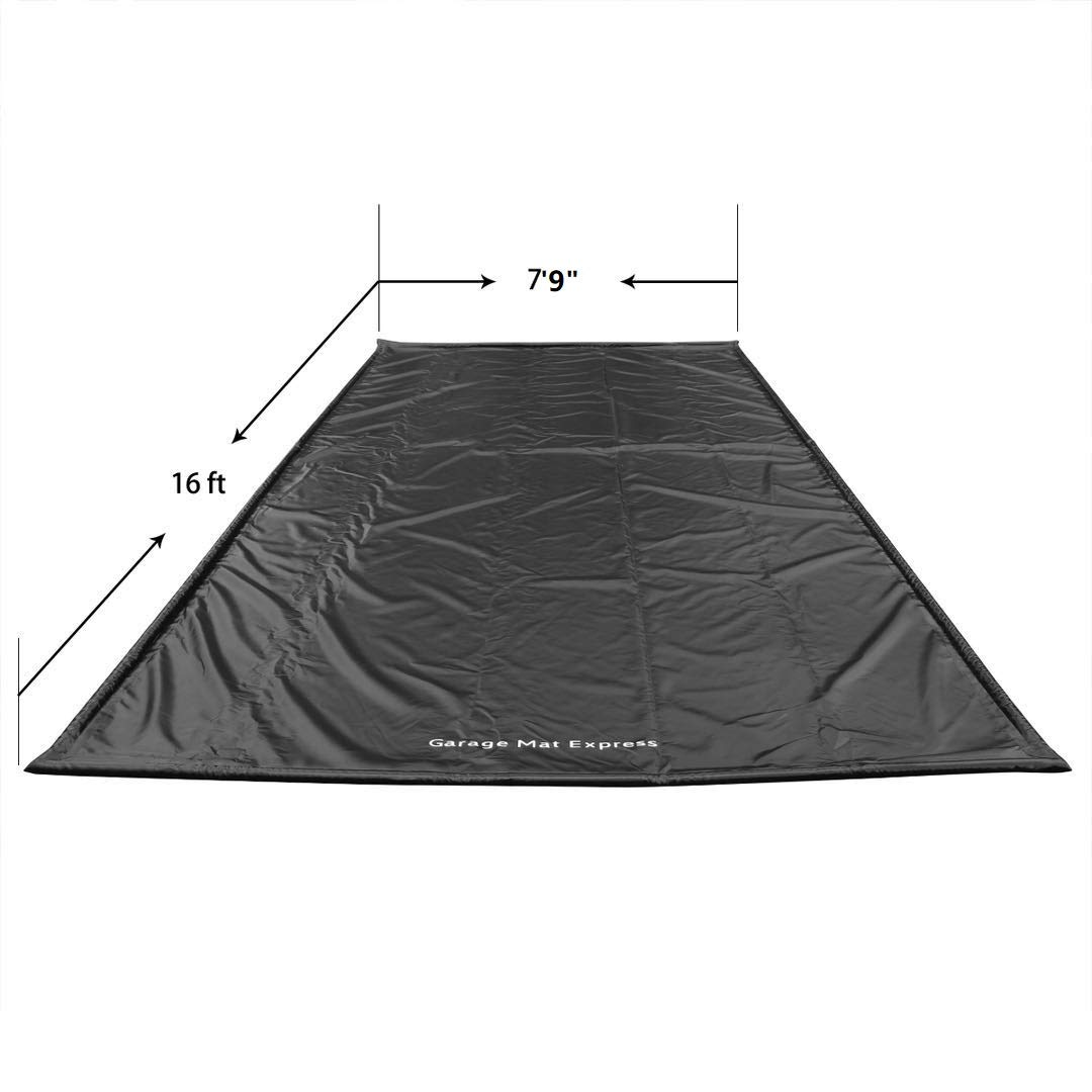 GarageMatExpress Black Heavy Duty 7'9'' x 16' Compact Size Floor Containment Mat for Snow, Oil, Mud, Ice by Garage Mat Express (Image #2)