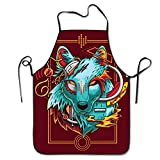 Robotwolf Music Cooking Aprons Chef Apron For Women Men Girl Kids Gifts Kitchen Decorations