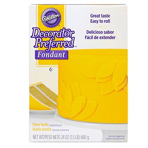 Wilton Decorator Preferred Yellow Fondant, 24 oz. Fondant Icing -