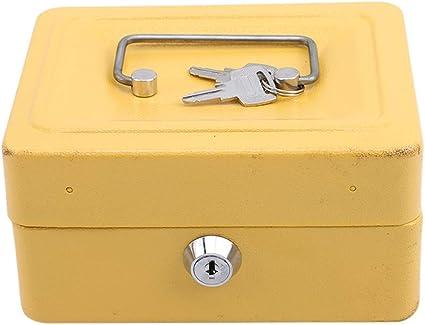 Joofff - Cerradura con llave portátil, pieza de metal, moneda, caja de seguridad, para uso de viaje o casa: Amazon.es: Belleza