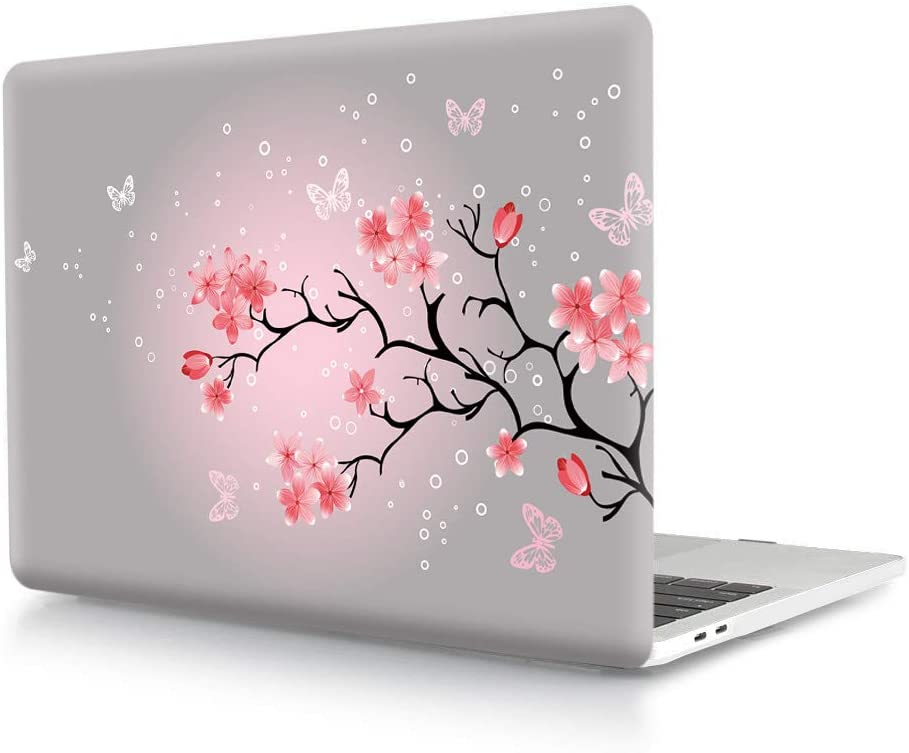 HRH Japanese Sakura Y13 Cherry Blossom Print Design PC Hard Cover for MacBook Pro 13 M1 Case A2338 with Touch bar A2159 A1706 A1989/A2289/A2251/A2338 Without Touch bar A1708 A1988(2016-2020 Release)