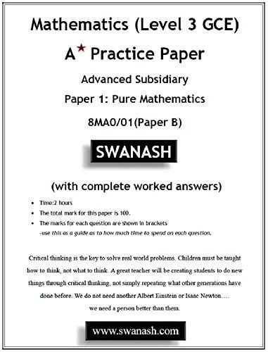 Amazon com: Mathematics (Level 3 GCE) A Star Practice Paper