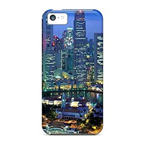 Shockproof/dirt-proof Singapore At Night Covers Cases For Iphone(5c)