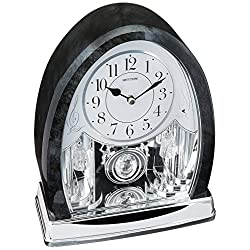 Rhythm Clocks Marble Crystal Bells Musical Motion Mantel Clock