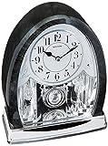 Rhythm Clocks ''Marble Crystal Bells'' Musical Motion Mantel Clock