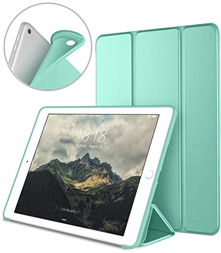 DTTO iPad 9.7 Case 2018 iPad 6th Generation Case / 2017 iPad 5th Generation Case, Slim Fit Lightweight Smart Cover with Soft TPU Back Case for iPad 9.7 2018/2017 [Auto Sleep/Wake] - Mint Green
