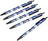 NFL New York Giants Disposable Black Ink Click Pens, 5-Pack
