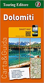 Book's Cover of Dolomitas, mapa de carreteras impermeable. Escala 1:200.000. Touring Club Italiano. (Smart map) (Francés) Mapa – Mapa doblado, 15 julio 2015