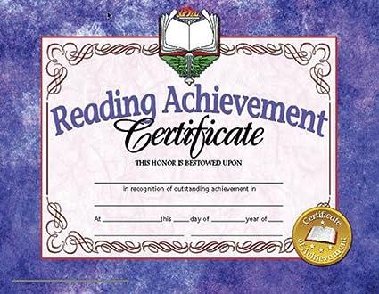 reading achievement certificate  Amazon.com: Hayes Reading Achievement Certificate, 8-1/2 X 11 in ...