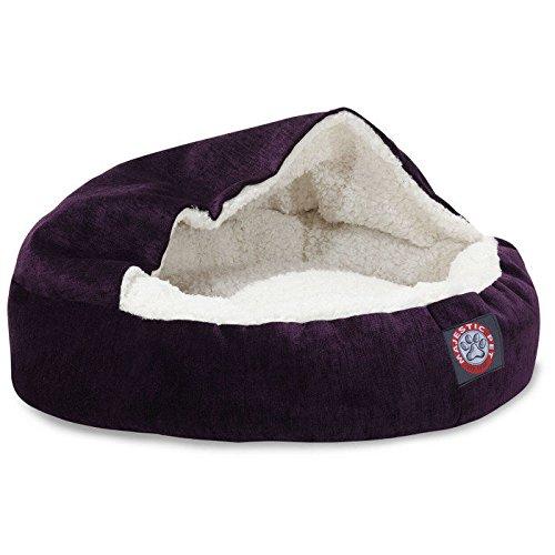 18 inch Villa Aubergine Canopy Cat Bed