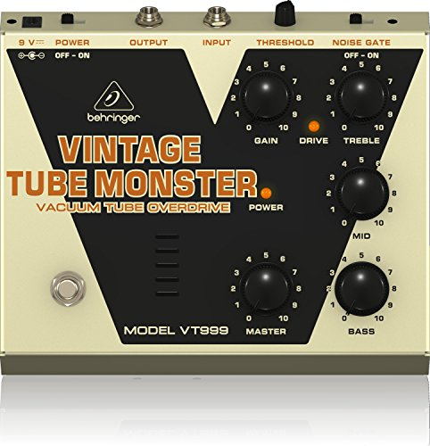 Behringer Vintage Tube Monster VT999 Classic Vacuum Tube Overdrive Instrument Effects Pedal