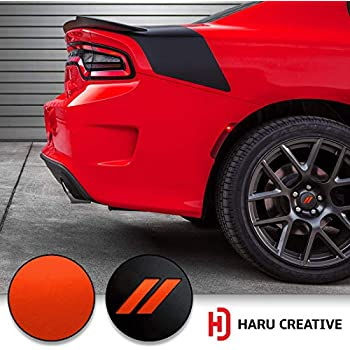 Metallic Matte Chrome Orange Haru Creative Glove Box Dashboard Letter Insert Overlay Decal Sticker Compatible with and Fits Jeep Wrangler JL 2018