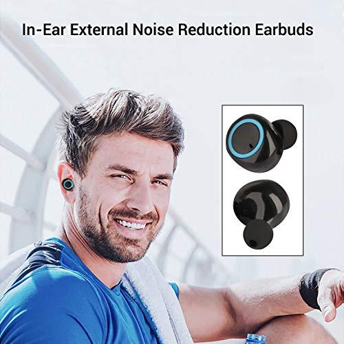 pTron Bassbuds in-Ear True Wireless Bluetooth Headphones (TWS) with Mic – (Black)