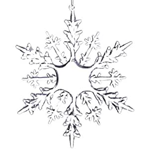 """Factory Direct Craft Collection of 6 Clear Acrylic Snowflake Ornaments (6 """" x 6"""")"""