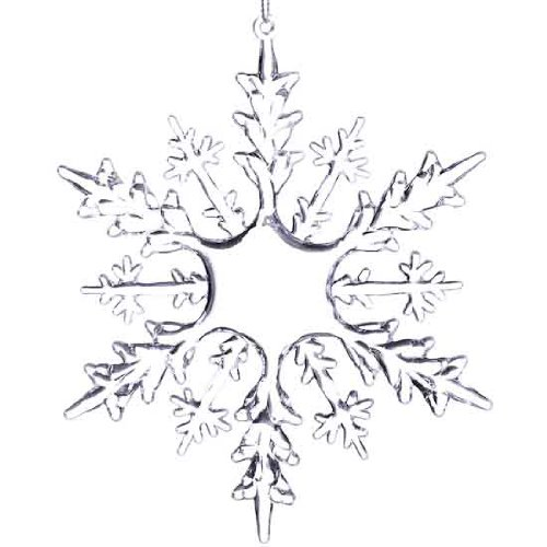 Large Clear Acrylic Snowflake Ornaments