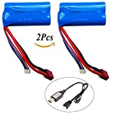 Best Compatiable For Cars - 2Pcs Rechargeable Lipo Battery 7.4V 1500mAh Universal Batteries Review