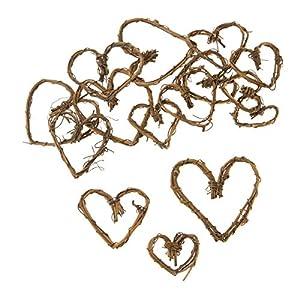 Darice Mini Grapevine Hearts, Natural, 1 to 2 inches, 15pcs 13