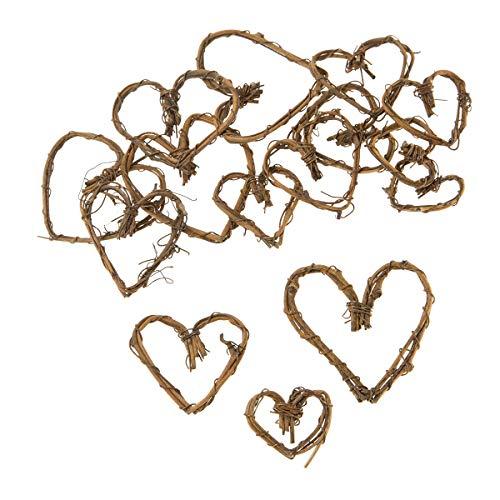 (Darice Mini Grapevine Hearts, Natural, 1 to 2 inches, 15pcs)