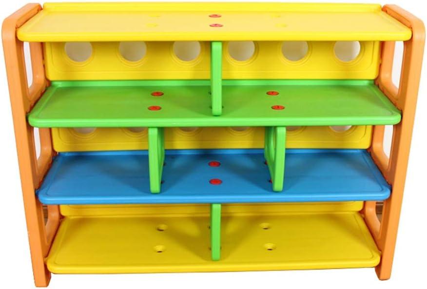 本の陳列台 幼児教育ストレージプラスチック製の収納ラック幼稚園のおもちゃキャビネットラック 大量の文庫本を保管できます (色 : 色, サイズ : 108x35x81cm)