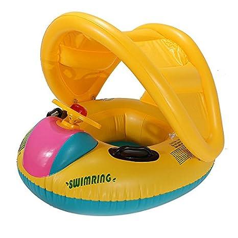Bazaar Bebé sombrilla ajustable anillo barco inflable del asiento del flotador de natación: Amazon.es: Deportes y aire libre