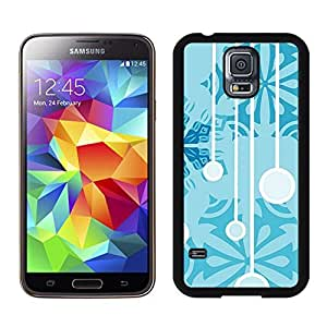 S5 Case,Christmas Snowflakes Jingling Bell TPU Black Case For Galaxy S5,Samsung Galaxy S5 I9600 Protective