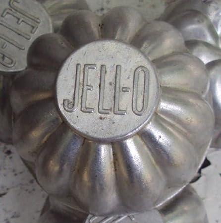 Set of Four Jell-o Mold Aluminum Jell-o Mold Vintage Jell-o Molds Vintage Jell-o
