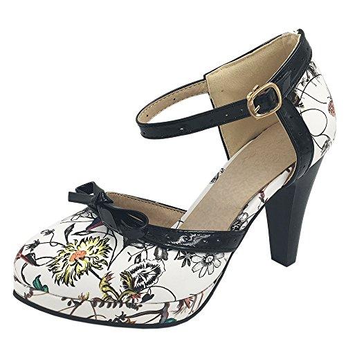 Coolcept Ladies D Orsay Sandals Heels Shoes Size 0-11 8 Colors Orange Flower