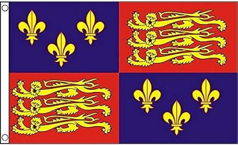 AZ FLAG Bandera Real del Reino Unido Enrique IV 150x90cm - Bandera ESTANDARTE del MONARCA BRITÁNICO 90 x 150 cm: Amazon.es: Jardín