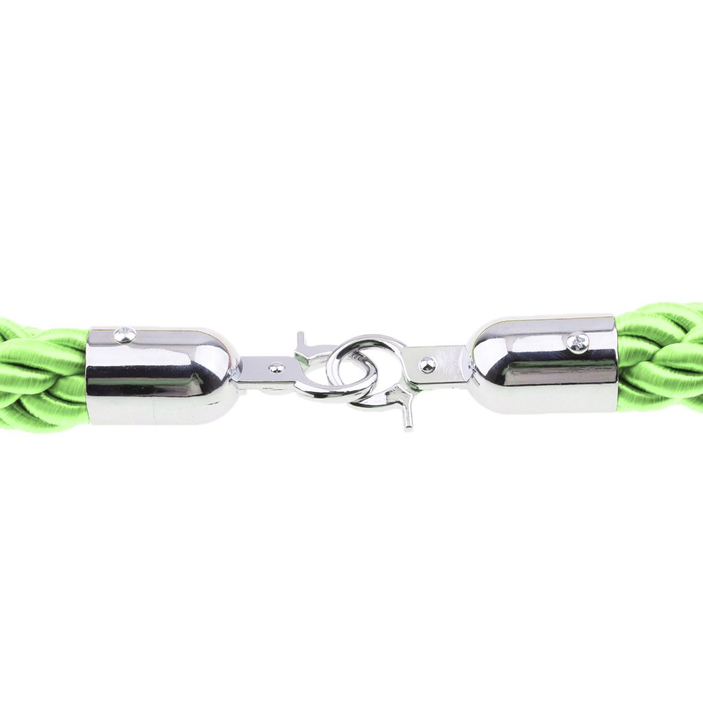 Red Almencla Barrier Rope Crowd Control Stanchion Queue Rope with Hooks 6.6ft 6.6ft//10ft 4 Colors Available
