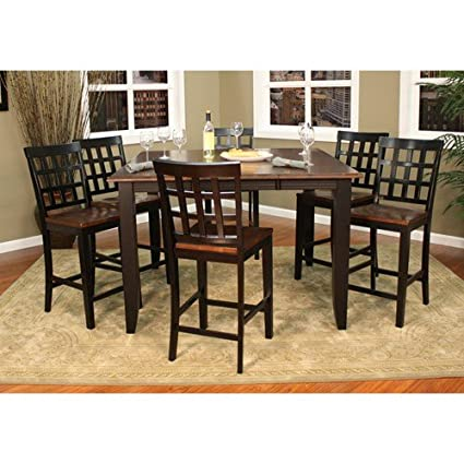 Charmant American Heritage Rosetta Counter Height Dining Set With Mia Stools