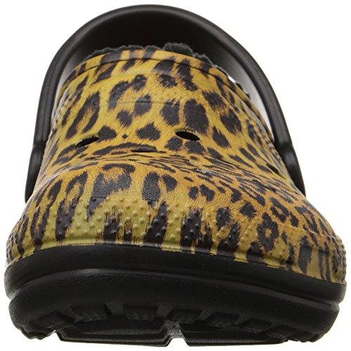 para Mujer Espresso para Clog Mujer Pantuflas negro Lined Graphic Classic crocs 8qfw4