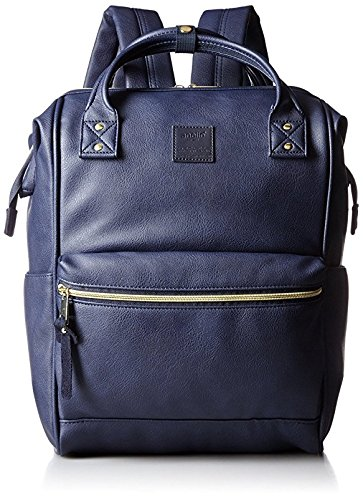 Anello Large Leather Backpack (Navy Blue) - 1