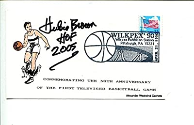 Hubie Brown New York Knick Kentucky Colonels ABA HOF Signed Autograph FDC - JSA Certified - NBA Autographed Miscellaneous Items