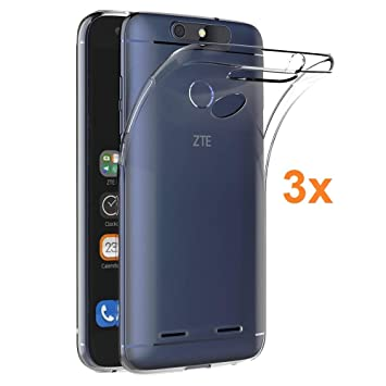 Electrónica Rey 3X Funda Carcasa Gel Transparente para ZTE Blade V8 Lite, Ultra Fina 0,33mm, Silicona TPU de Alta Resistencia y Flexibilidad
