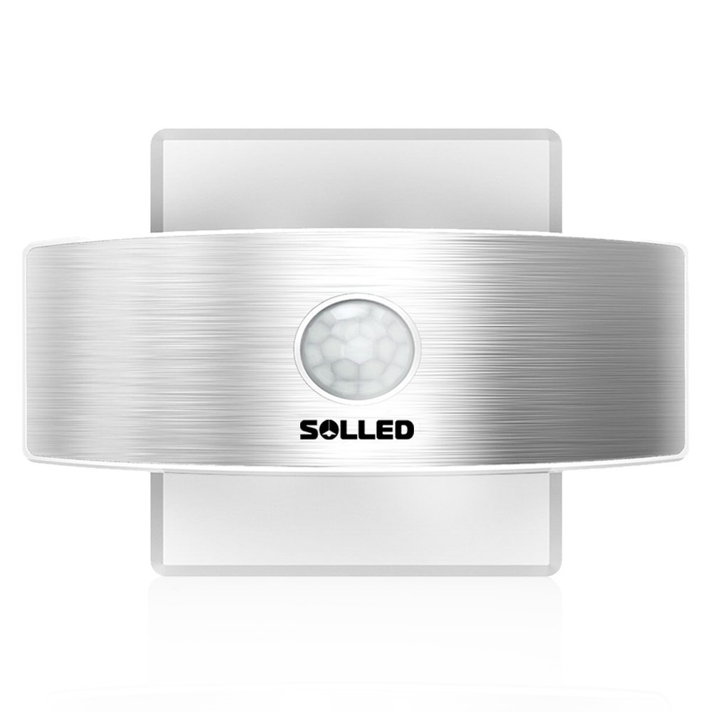 SOLLED Motion Sensor Led Wall Sconce Night Light, Luxury Aluminum Design Rechargeable Stick Anywhere, Suitable For Hallway, Pathway, Staircase, Garden, Wall by SOLLED (Image #1)