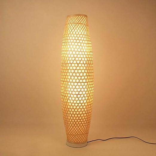 Jarrón de mimbre de mimbre de bambú Lámpara de pie Luminaria ...
