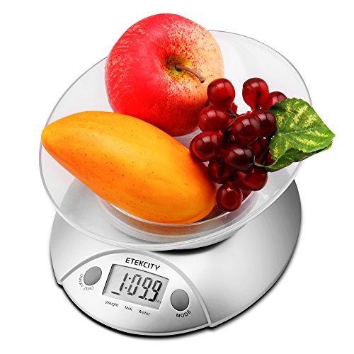 Etekcity Digital Kitchen Food Scale and Multifunction Weight Scale with Removable Bowl, 11 lb 5kg by Etekcity (Image #4)