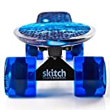 Skitch Skateboards Complete 22 Inch Original Penny Style Mini Cruiser Board with Premium Bearings and FREE Skate Tool, Blue Galaxy