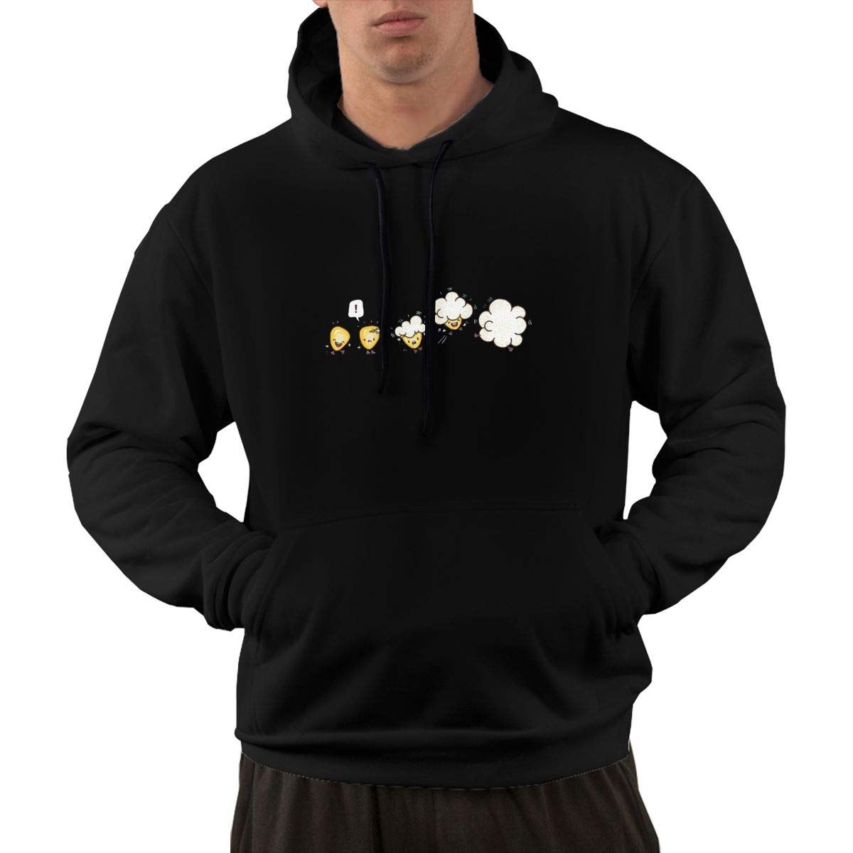 How to Become Popcorns Hoodie Mens Autum Winter Performance Active T-Shirt Hoodie with Plus Size