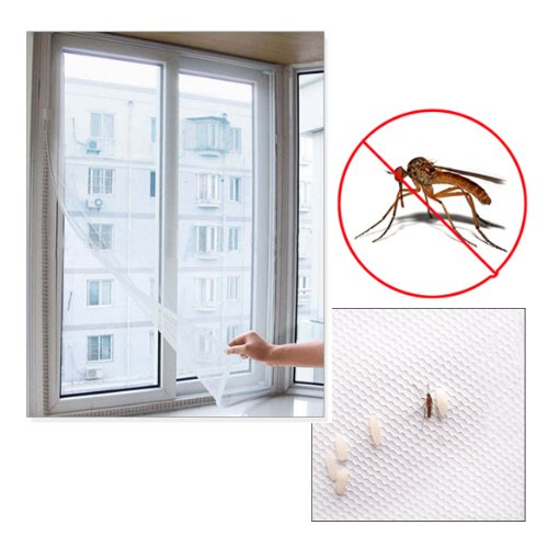 150x130cm Insect Fly Mosquito Bug Window Mesh Screen White - 8