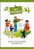 My Progress - Music Lesson Book - by Barenreiter by Baerenreiter Verlag