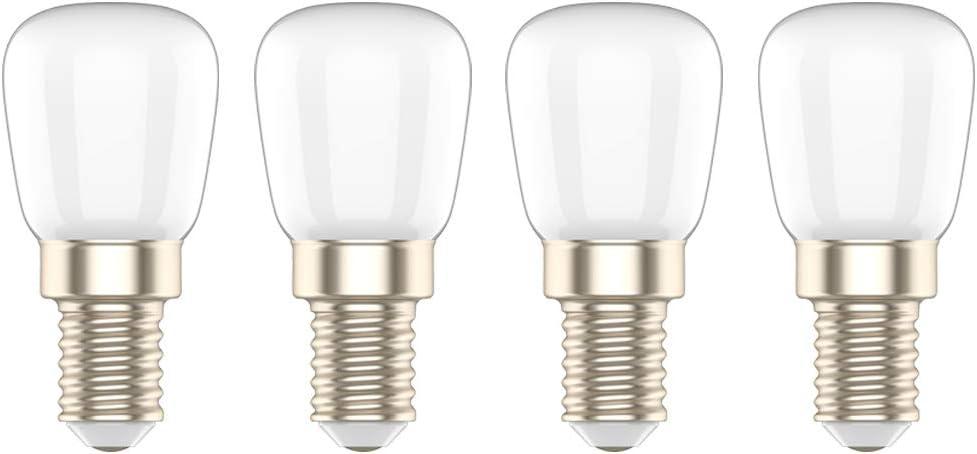 Bombilla LED E14 3W,Equivalente a 20W Bombilla,Blanco Frío 6000K, para Frigorífico/Campana Extractora/Congelador/Máquina de Coser,4 Unidades: Amazon.es: Iluminación