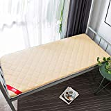 GJFLife Knitted Polyester Dormitory Mattress Topper, Comfortable Tatami Mattress Protector Futon Thickened Collapsible Bed mats Pad-C 100x190x6cm